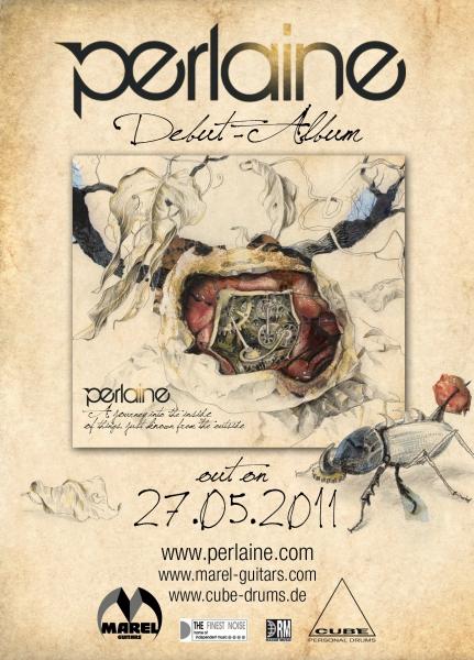 Flyer zum Debut Album von Perlaine